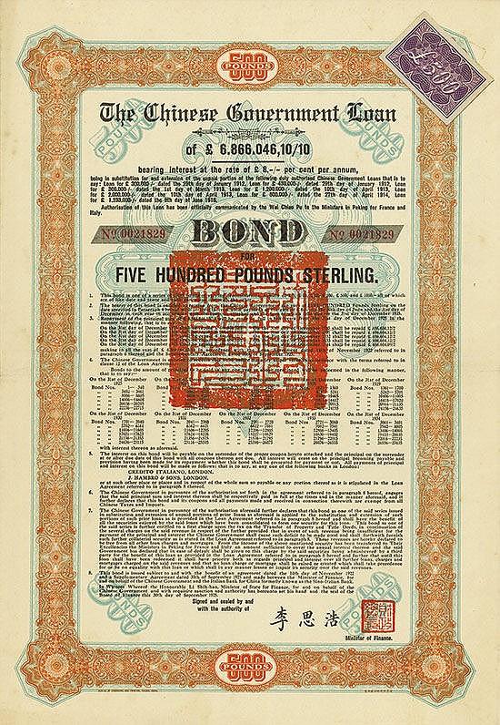 Chinese Government (Skoda Loan II, KU 704 I)