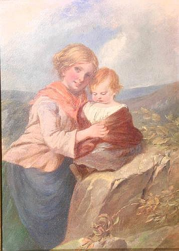 Charles Dukes (fl. 1829-65), 'A young mother with