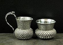A Victorian Scottish silver thistle cup, Wilson &