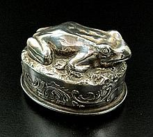 A French silver love token box, import mark for