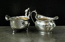 An Edwardian silver cream jug, George Nathan &