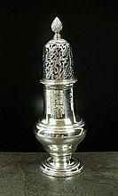 A George II silver sugar caster, Samuel Wood,