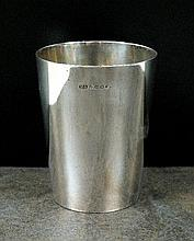 A Victorian silver beaker, Atkin Brothers,