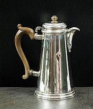 A George I style silver hot water jug, LAC, London