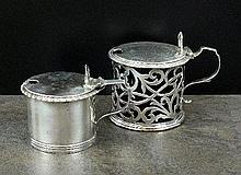 A Victorian silver mustard pot, George John