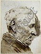 Erich Wolfsfeld 1885-1956, 'Profile portrait of, Erich Wolfsfeld, Click for value
