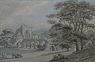Thomas Sunderland, 1744 - 1828 'A view of Buildwas