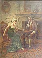 Eva Hollyer, 'A game of chess', oil on canvas,, Eva Hollyer, Click for value