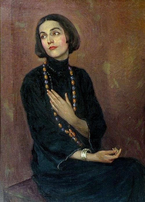Paul Swan, American School, 1883-1972 'Portrait of