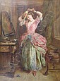 Frank Stone (1800-1859) 'The New Bonnet', oil on, Frank Stone, Click for value