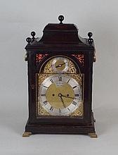 A 19th century ebonised bracket clock the 8 inch