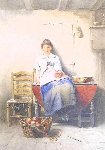 James Hardy (Junior) RI (1832-1899), 'A kitchen
