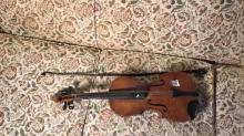 Violin and Bow, poor condition