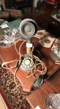 Brass candlestick phone with Western electric headset, no speaker