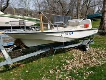 Boston whaler with the trailer