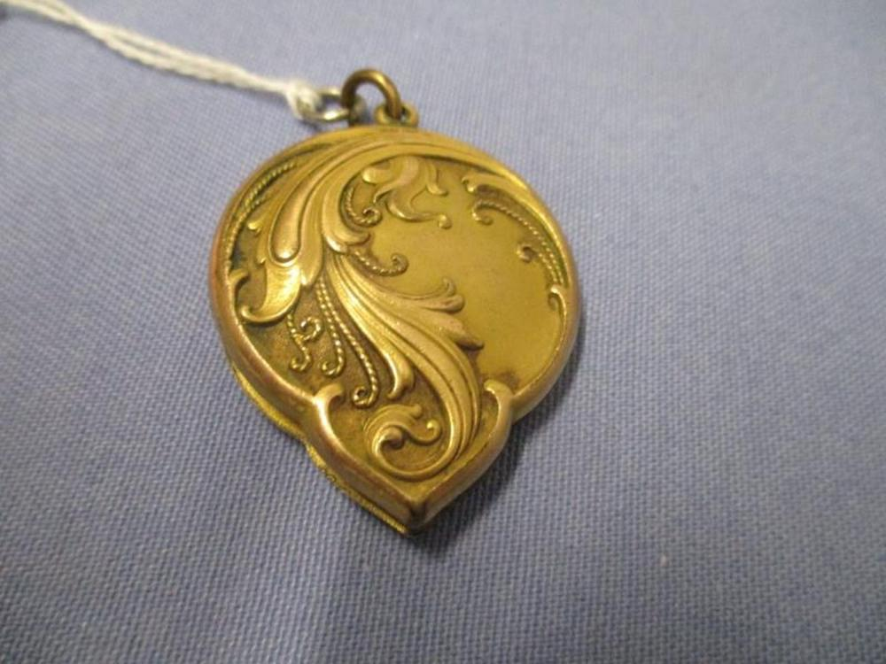 Locket w/ Scroll Filigree