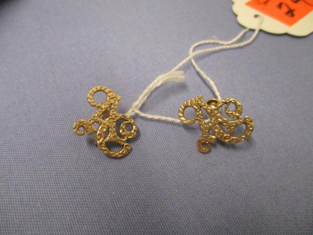 Pair Of Ladies Clip On Earrings, Initials: AC