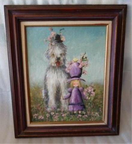 Ann Hardy Original Oil on Board Painting