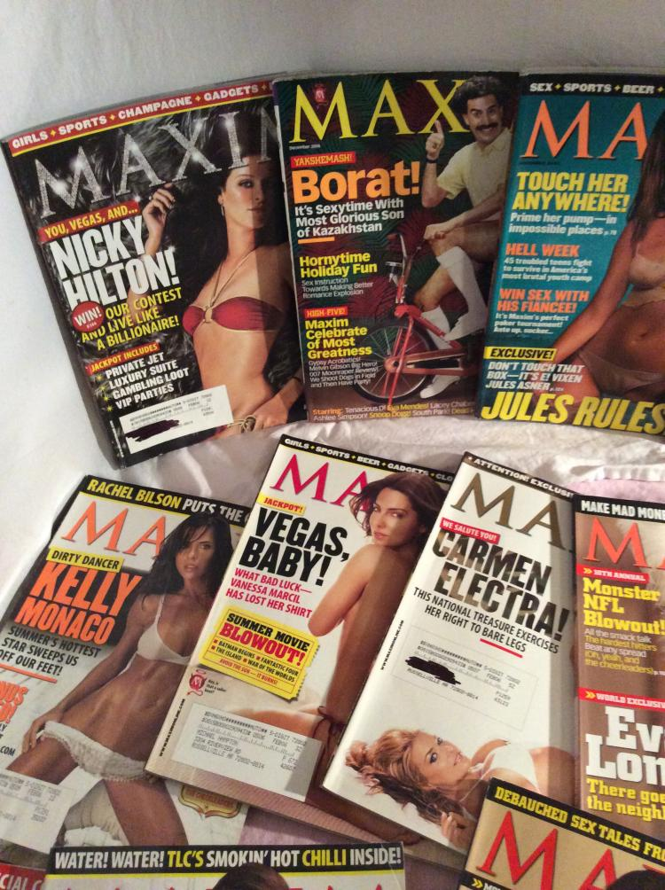 Nice lot of Men's Maxim Magazines (Nice cover stars)