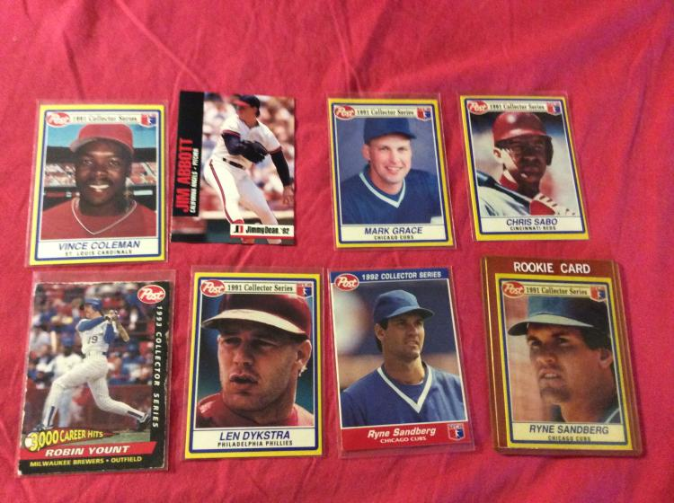 8x Post Cereal And Jimmy Dean Sausage Baseball Cards