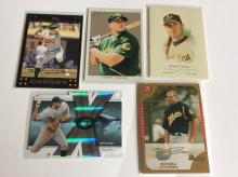 5x Bobby Crosby Baseball Cards