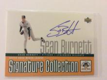 Sean Burnett Authentic Autographed Rookie Baseball Card Insert
