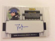 Daniel Schlereth Authentic Autographed Rookie Baseball Card Insert