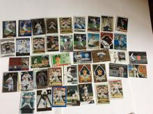 Table Top of Barry Zito Baseball Cards