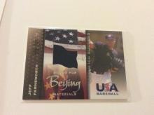 Jeff Farnsworth Authentic USA Beijing Nationals Game Worn Jersey Rookie Baseball Card Insert