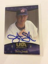Justin Smoak USA Nationals Autographed Juniors Baseball Team Rookie Baseball Card