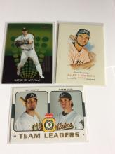 3x Eric Chavez Baseball Cards