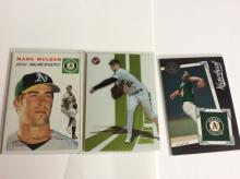 3x Mark Mulder Baseball Cards