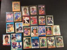 Table Top of Baseball Stars Baseball Cards