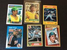 6x Reggie Jackson Baseball Cards