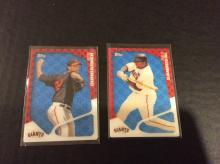 Madison Bumgarner and Pablo Sandoval Topps 3D Baseball Cards