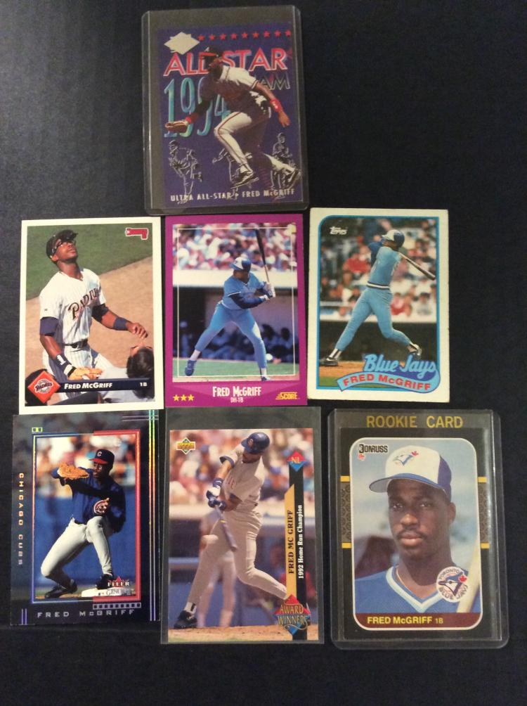 Lot Of Fred Mcgriff Baseball Cards