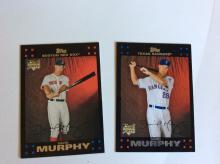 2x David Murphy Rookie Baseball Cards