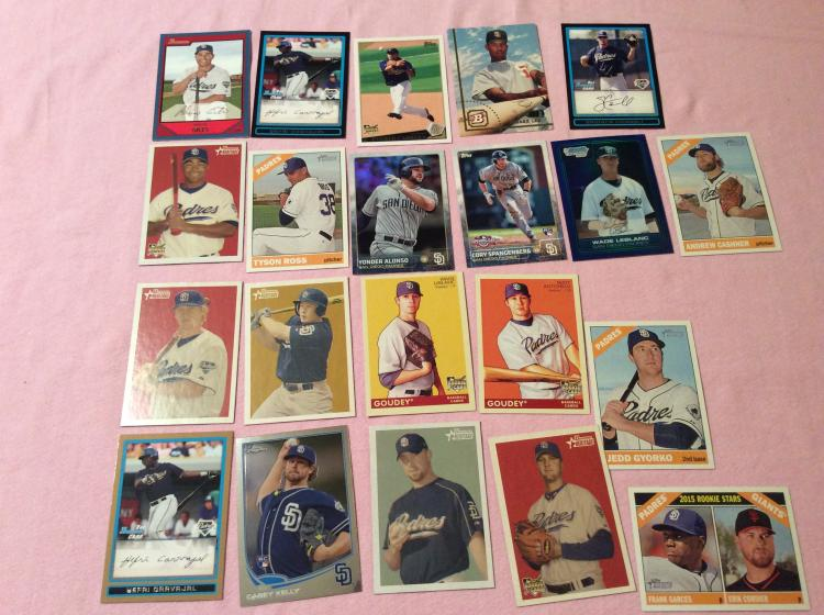 Modern Baseball Cards From San Diego Padres Team