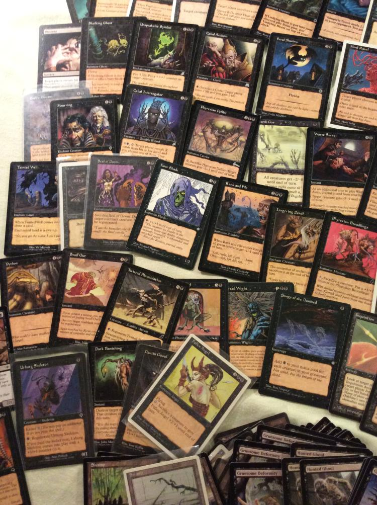 Table top of black mana magic the gathering cards and more - Magic the gathering game table ...