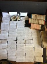 Large Table Top Lot of Sport Trading Cards All Unclaimed and Unsold Past Auction Lots
