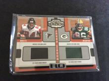 Roddy White and Terrence Murphy Authentic Dual Jersey Rookie Football Card