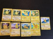 9x Pokemon Pikachu Trading Cards