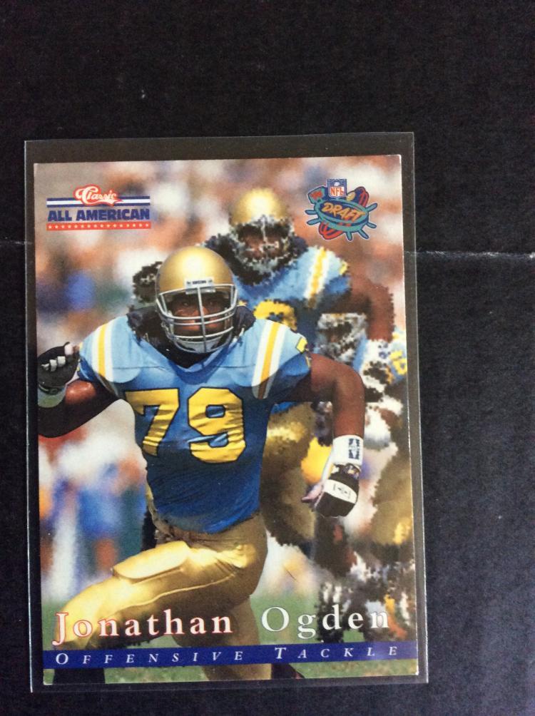Jonathan ogden all american classics rookie football card for All american classics