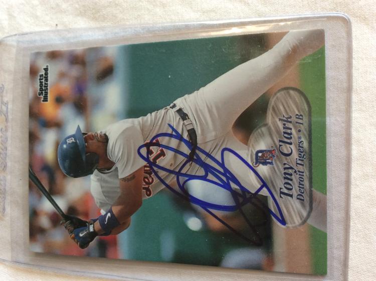 Tony Clark Autographed Baseball Card