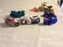 Lot of Vintage Toy Motorcycle