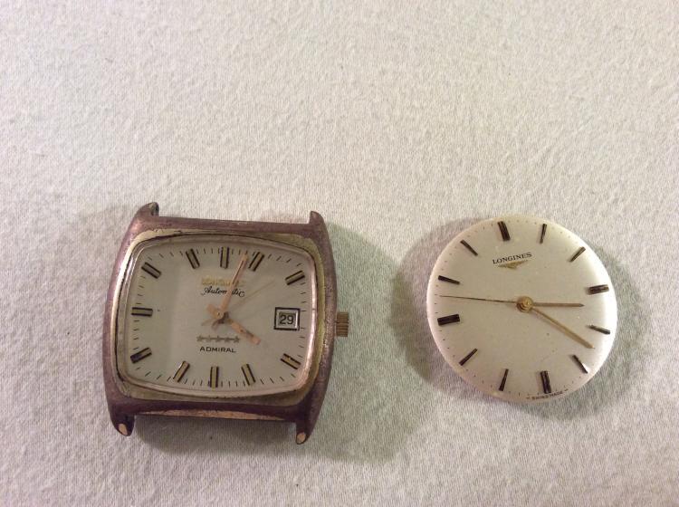 2x vintage longines mens watches