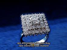 14K Ladies' Ring  .92ct. Diamond  1.99ct. Diamond