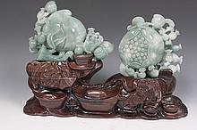 Jadeite Peach Carving