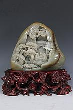 Jade Village Scenery Carving
