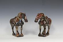 Pair of Jade Horse Carving